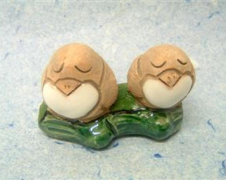 Coppia uccelli ceramica